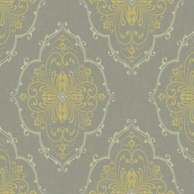DD8398 Grey Gold Monte Christo Damask with Glitter Wallpaper