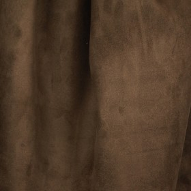 Doro Suede Cocoa Chocolate Brown Fabric