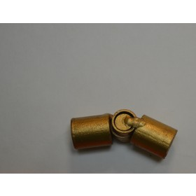 Antique Gold Hinged Corner Rod Antique Drapery Rod Co. ACAHCR