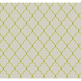 Wallpaper By The Yard ER8198 Pearl Grey Lime Green Waverly Buzzing Around Trellis