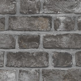 FH37519 Black Farmhouse Weathered Brick Wallpaper