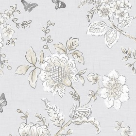FH37538 Butterfly Toile Wallpaper