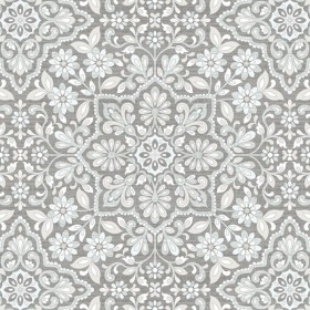 FH37544 Floral Tile Wallpaper