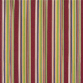 Fiesta Stripe Red Kasmir Fabric