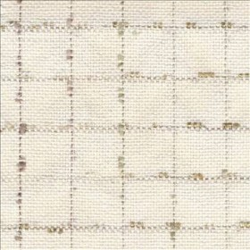 Flicker Plaid Ecru Kasmir Fabric