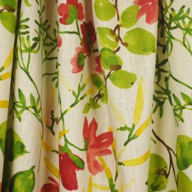 Gazebo Raspberry Tropical Floral Fabric
