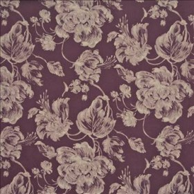 Giverny Plum Kasmir Fabric