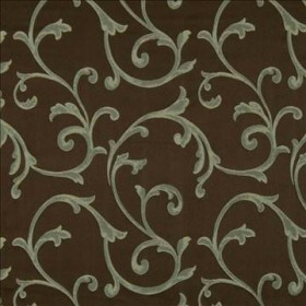 Grande Scroll Chocolate Kasmir Fabric
