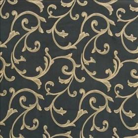 Grande Scroll Ebony Kasmir Fabric