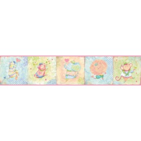 Lucie'S Pink Circus Wallpaper Border