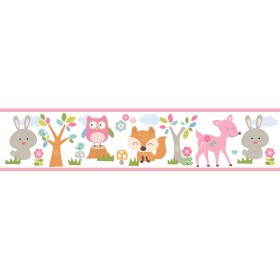 Leo Pink Country Club Wallpaper Border