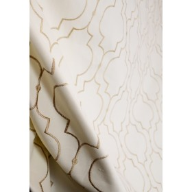 Helmsley Glow Gold Embroidered Upholstery Fabric