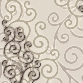HMY57513 Beige Geo Medallion Wallpaper
