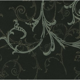 HMY57657 Black Swirl Wallpaper