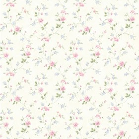 Nancy Off-White Spring Bloom Trail Wallpaper
