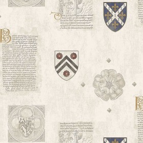 IWB00800 Scholar Cream Crest Wallpaper