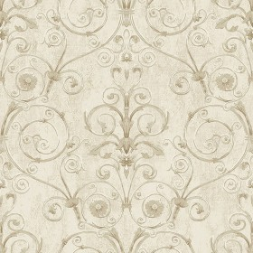 IWB00803 Curlicue Beige Scroll Wallpaper