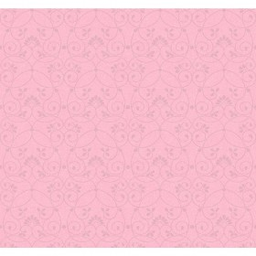 JE3552 Bubblegum Pink Glitter Scroll Wallpaper