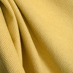 Jumper Daffodil Herringbone Yellow Upholstery Fabric