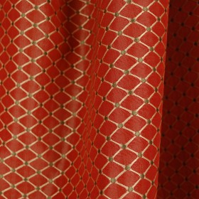 Kent Ruby Diamond Geometric Fabric