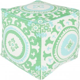 Kate Spain Green Cube Pouf | KSPF-013