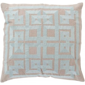Intersected Geometrics Green, Grey Pillow | LD010-2222D