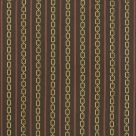 Links Stripe Maya Chocolate Kasmir Fabric