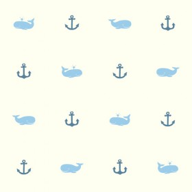 Young At Heart Whale Of A Tale Blue White Wallpaper
