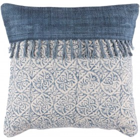 Lola Pillow with Poly Fill in Ivory, Slate, Navy | LL005-2020P