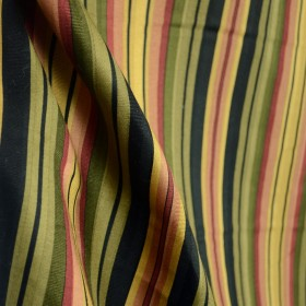 Mateo Noir Multi Stripe Fabric