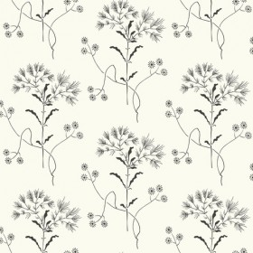 ME1515 Magnolia Home Joanna Gaines Wildflower Black on White Wallpaper
