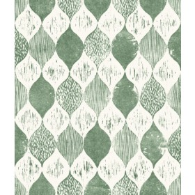 Woodblock Print Forest Green Magnolia Home Vol. II Wallpaper