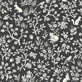 Fox & Hare Straight Black Magnolia Home Vol. II Wallpaper