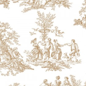 MH36501 Romantic Toile Wallpaper