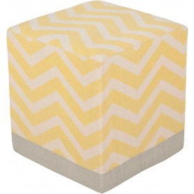 Millie Yellow Cube Pouf | MIPF-001