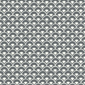 MK1150 Stacked Scallops Grey Wallpaper
