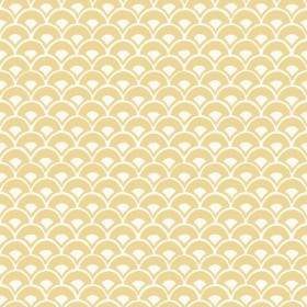 MK1152 Stacked Scallops Yellow Wallpaper