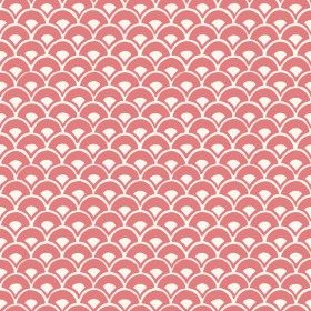MK1155 Stacked Scallops Pink Wallpaper