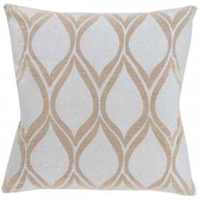 Metallic Stamped Grey, Tan Pillow | MS001-2020P