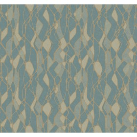 NA0512 Blue Stained Glass Wallpaper