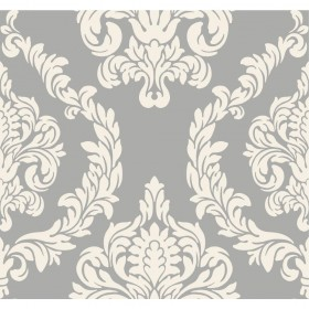 Candice Olson Inspired Elegance Aristocrat Cream, Grey, Metallic Wallpaper