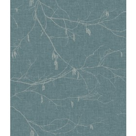 NR1527 Blues Winter Branches Wallpaper