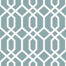 NU1691 Montauk Lattice Hemlock Blue Peel and Stick Wallpaper