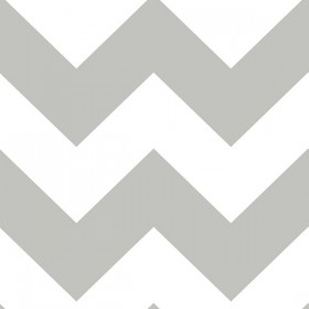 Ziggy Chevron Grey Peel and Stick Wallpaper