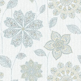 NU1697 Gypsy Floral Blue/Green Peel and Stick Wallpaper