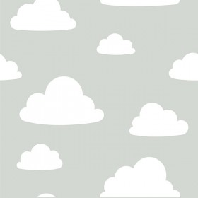NU1931 Clouds Grey Peel and Stick Wallpaper