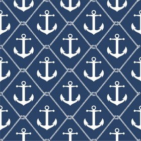 Set Sail Navy Peel and Stick Wallpaper