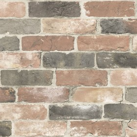 NU2064 Newport Reclaimed Brick Red Faded Peel and Stick Wallpaper
