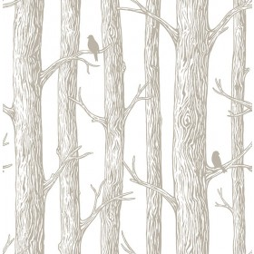 NU2081 The Forest Grey Trees Peel and Stick Wallpaper