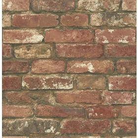 NU2088 West End Red Brick Peel and Stick Wallpaper
